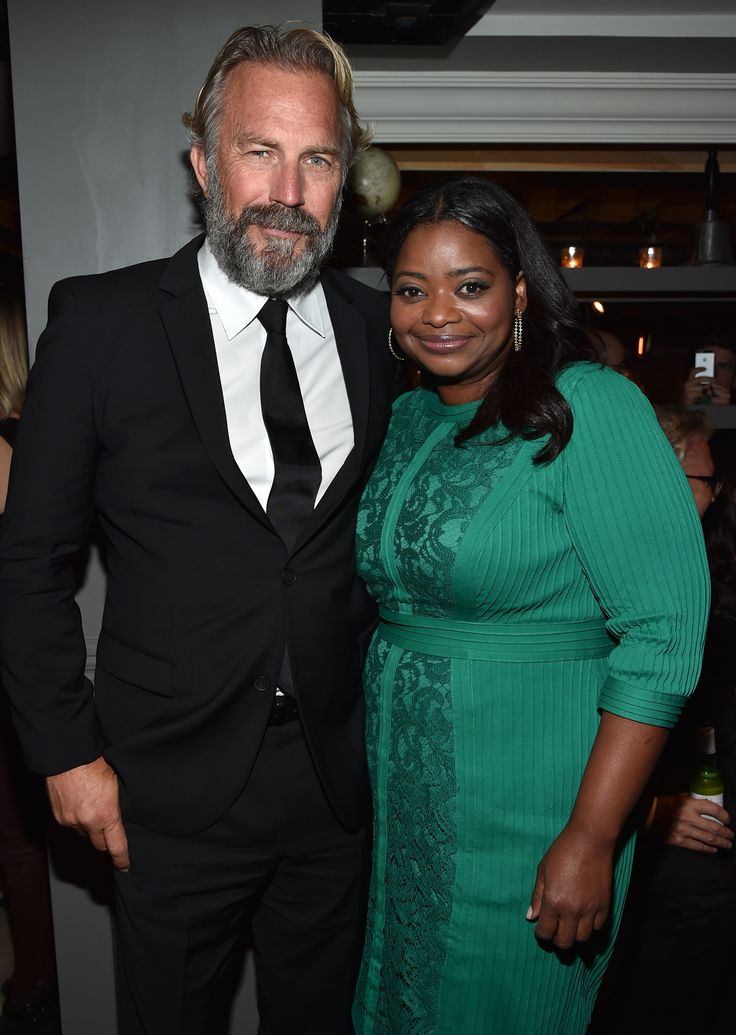 Kevin Costner and Octavia Spencer at the Black and White after party during #TIFF14. (Photo: Getty Images)