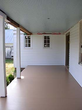 Front Porch Paint Color Chownings Tavern Rose Tan Enon Hall June 2006 Old House Restoration Journal Ideas For The Flooring