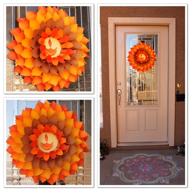 Isn't it a beautiful #wreath welcoming people into your home? Create it yourself. Its easier than you thought. #DIY
