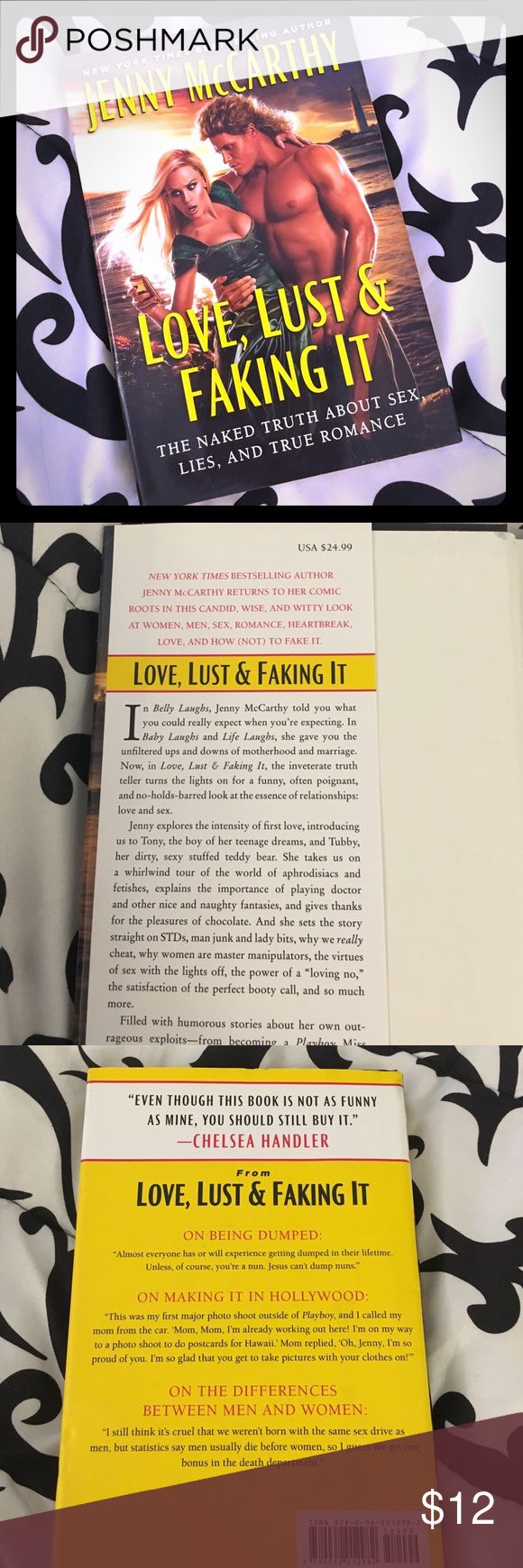 Jenny McCarthy book Love, Lust, & Faking It by Jenny McCarthy is hilarious! This is Jenny's book about love and relationships. She holds nothing back. 👍🏼😂 Hardback with dust cover. In perfect condition. Jenny McCarthy Accessories
