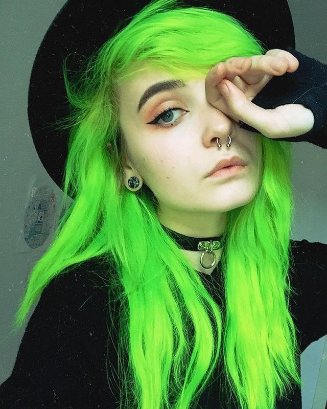 Green Hair Color Ideas Www Pixshark Com Images