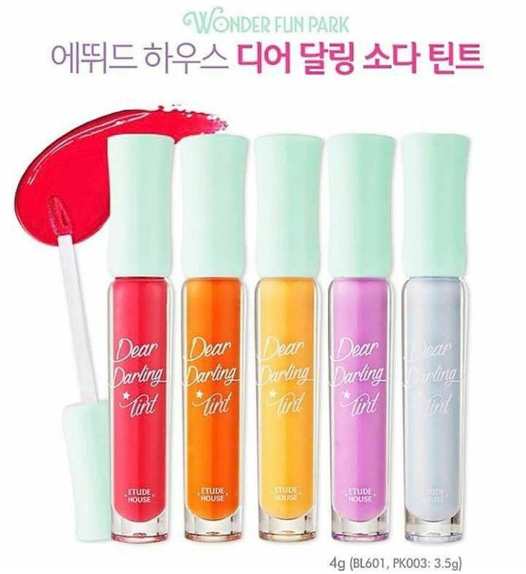 ETUDE HOUSE Wonder Fun Park Dear Darling Soda Tint  Price 80.000  Lip tint dgn warna pastel.. Lip tint semi glossy, awet di bibir dan tahan hingga 5 jam . Info/order: - Text message atau WA ke 085642316364 - line: @fek2042x (depannya pakai @ ya) . #makeupmurah #eyeliner #lipstik #lipgloss #jualkosmetik #maskara #etudehouse #bbcream #jualetude #jualetudehouse #etudehousemurah #etudemurah #etudeindo #etudeori #etudehouseori #jualkosmetikkorea #etudeindonesia #etudesurabaya #etudehousesurabaya…