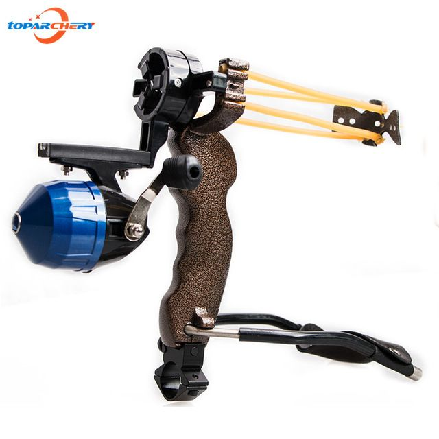 Archery Hunting Bow Fishing Slingshot Catapult with Bracket Arrow Rest Brush Functional Clamp Shooting Sling Shot