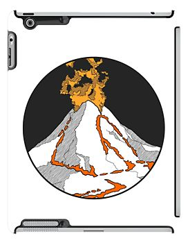 Volcano! iPad case - by herker $67.50