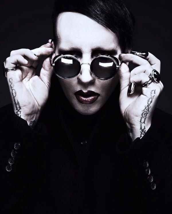 Marilyn Manson with his new tattoos                                                                                                                                                                                 More