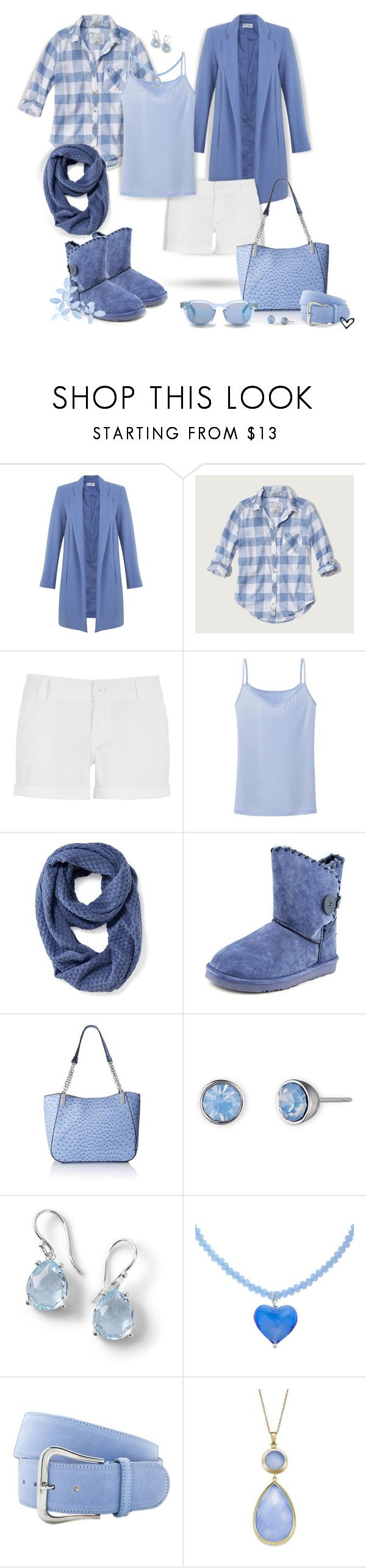 """""""~Periwinkle~ Fall Shorts ~"""" by justwanderingon ❤ liked on Polyvore featuring Miss Selfridge, Abercrombie & Fitch, maurices, Uniqlo, Old Navy, Lamo, Emilie M., Lonna & Lilly, Ippolita and Martick"""