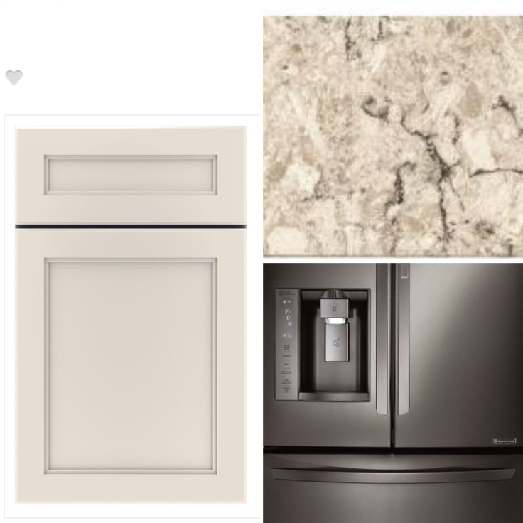 Color scheme for new kitchen:  Thomasville cabinets, Cabbott door in Dover, Everest granite and black stainless appliances.