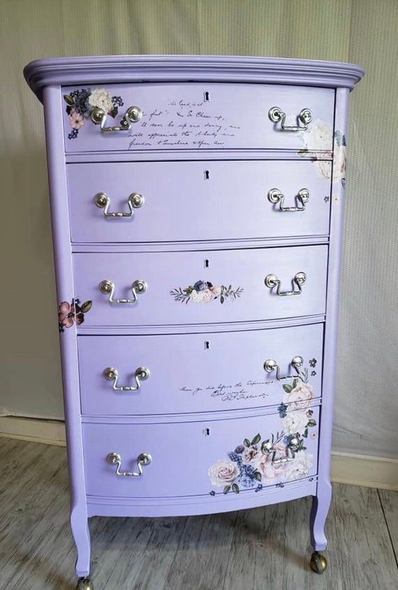 Furniture Decals Lavender Bush By Redesign With Prima Decoupage