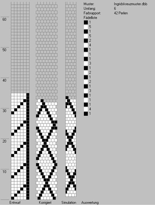Schlauchketten häkeln - Musterbibliothek: ingridskreuzmuster