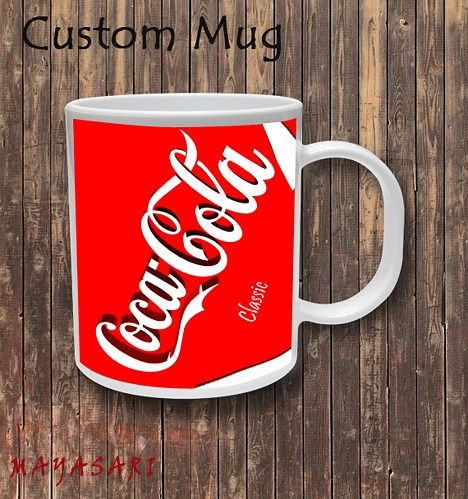 Coca Cola Classic Custom Mug Coffee or Tea  Your favorite photo or funniest saying is a great way to start the day. Use our white custom mug to showcase your creativity. It has a large handle that's e