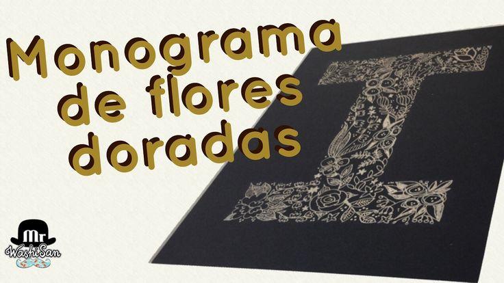 Tutorial Monograma de letra Dorada Floral con bolígrafo metalizado