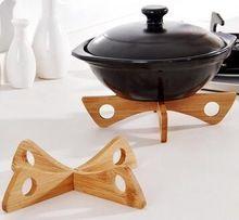 RONG-725 Destacável pegadores de panela de bambu esteira de tabela tapete criativo utensílios de cozinha rack de armazenamento de mesa tigela pad(China (Mainland))