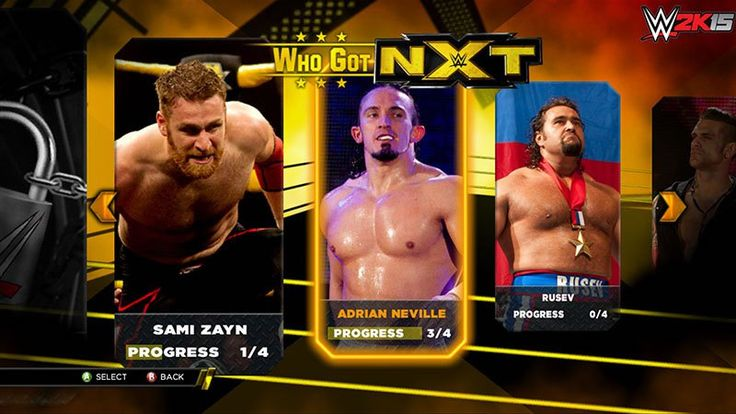 """2K Unveils """"Who Got NXT"""" Mode For WWE 2K15  As the release ofWWE 2K15gets closer, more details about this game are coming in.2Khas announced that theXbox 360andPS3 versions will have a new mode centered aroundWWE's super talented brand NXT.  Since unveiling theWWE Network, NXT has definitely become one of the most exciting p... http://thegamefanatics.com/2014/10/27/2k-unveils-got-nxt-mode-wwe-2k15 ---- The Game Fanatics is a completely independent,"""