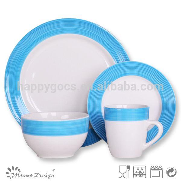 Vajilla para restaurante venta caliente ronda barato vajilla artículos del hogar de cerámica