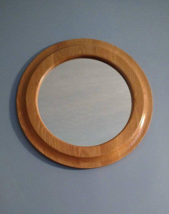 Round Oak Mirror Gift Decorator Wall Mirror Mirror Wall