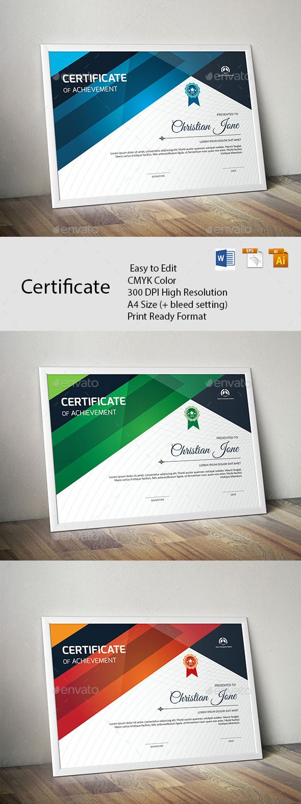 Certificate #cool #clen  • Download here → https://graphicriver.net/item/certificate/20400231?ref=pxcr