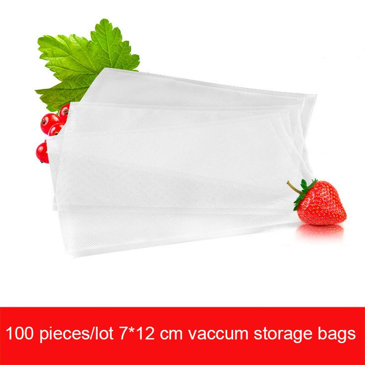 100 Pieces/lot 7*12CM Vaccum Storage Bags for Vacuum Machine High Quality Storage Bag with Dots for Vacuum Food Sealers Machine