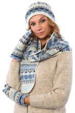 Комплект шапка, шарф, варежки 08168-24