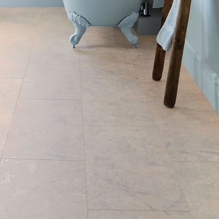 Image of Professional V Groove Marble Tiles - Howdens bathroom