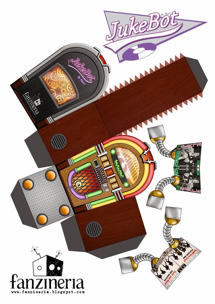 FANZINERIA: Papertoy - Jukebot