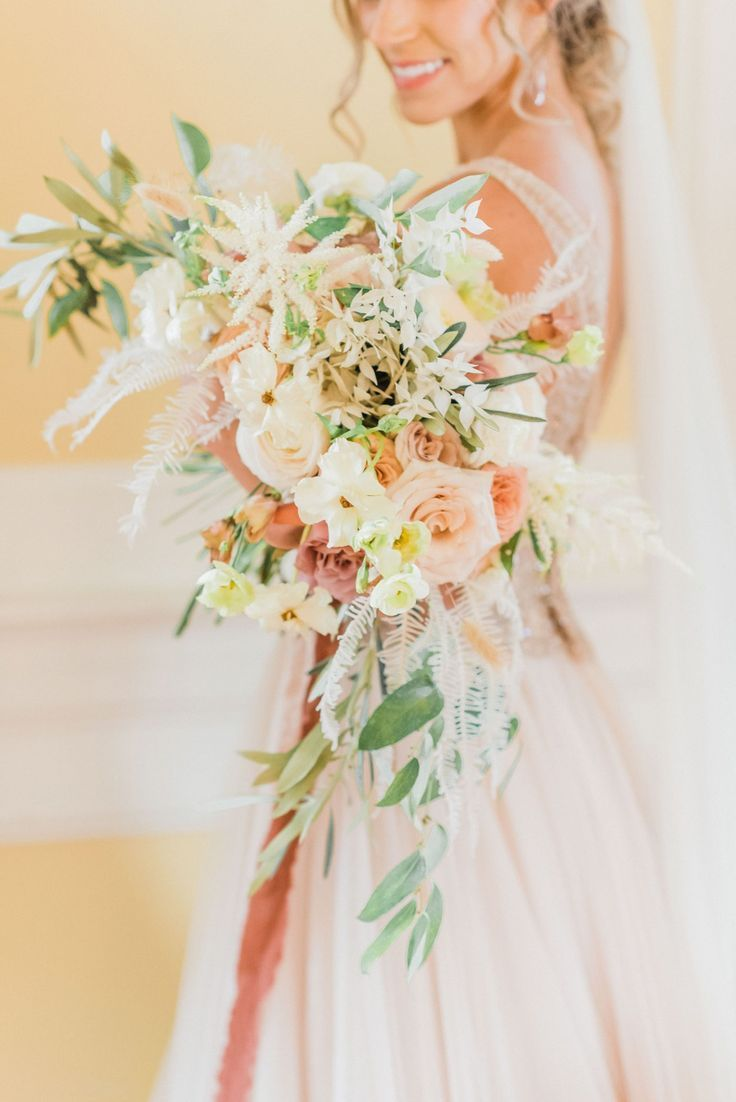 Intimate Outdoor Wedding In Charleston Featuring Blush And Gold