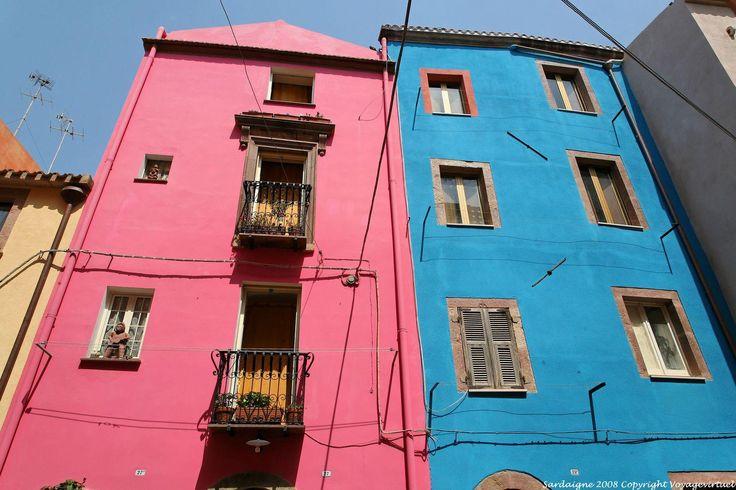 Bosa Vicolo Della Scuda Rose Et Bleu - Cerdena