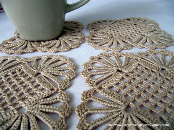CROCHET COASTERS Vintage Doily Look Crochet by LyubavaCrochet