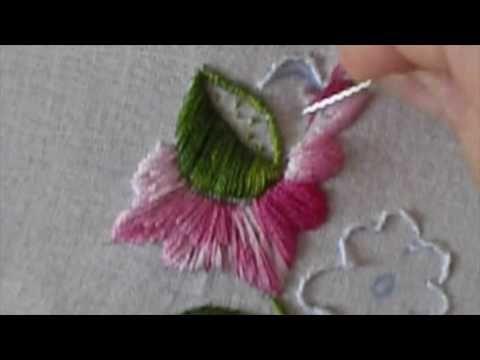 Tutorial Bordado en Hilo -María garcía- - YouTube