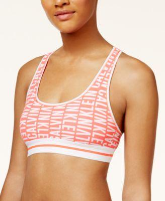 CALVIN KLEIN Calvin Klein Modern Cotton Low-Impact Exposed Logo Bralette Qf1512. #calvinklein #cloth # bras, panties