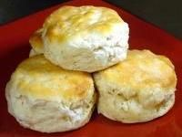 BAKING POWDER BISCUITS - Here is an easy, quick recipe for basic American breakfast biscuits. Spread with jam or serve  topped with a generous portion of sausage gravy. Baking powder biscuits make a great addition to any Sunday morning breakfast.   (whats4eats.com):