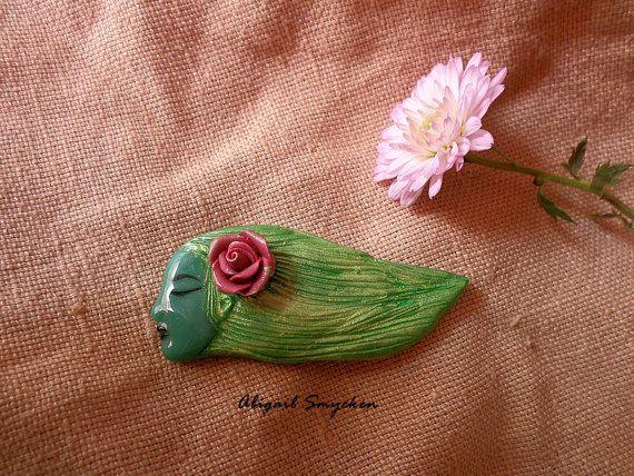 Sleeping Beauty Brooch Sleeping Lady Sleep by AbigailSmycken