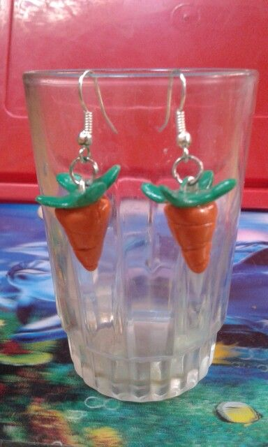 Carrots Earring - Cold Porcelain Clay