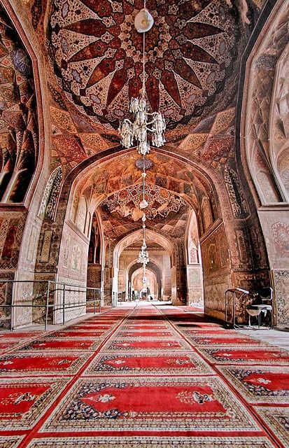 Wazir Khan's Mosque, in the heart of the Walled City of Lahore, Pakistan