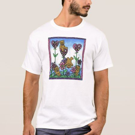 WooWoo Bears in the garden. T-Shirt - click/tap to personalize and buy