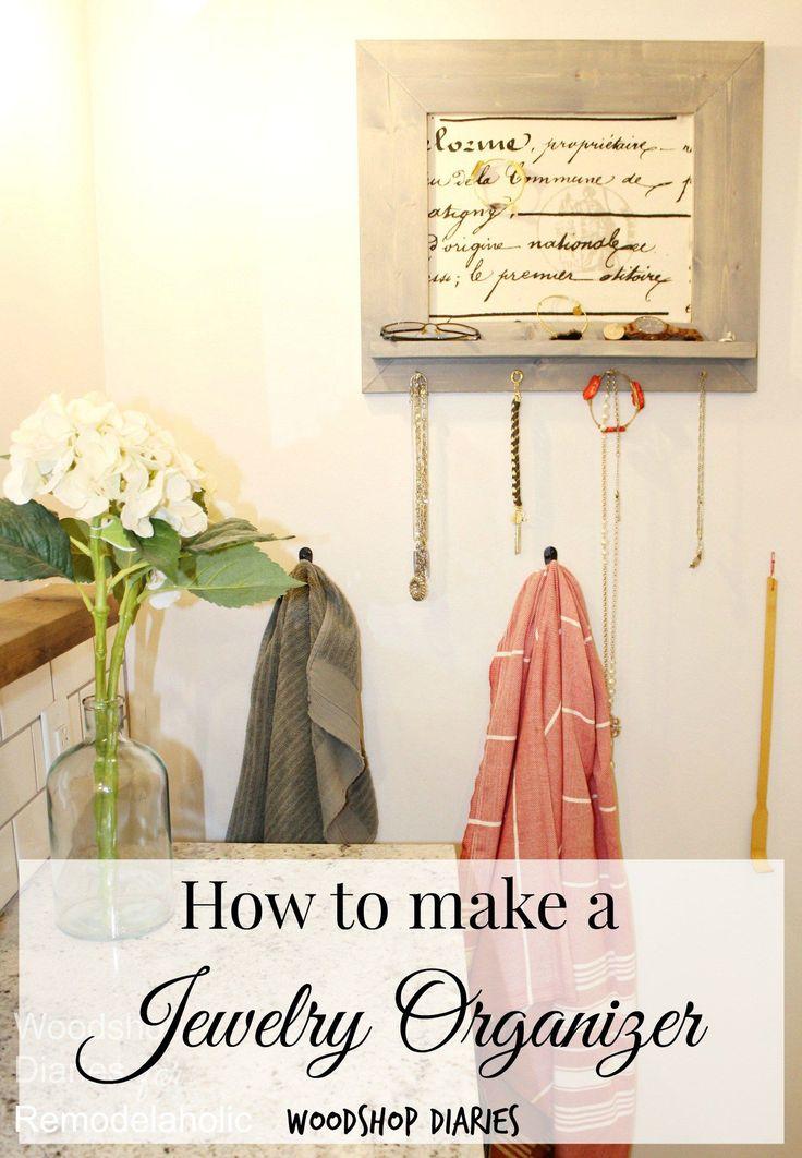 How to build a jewelry organizer wtih foam board insert