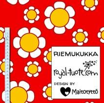 Trikoo Riemukukka - punainen / Jersey Joyflower - red