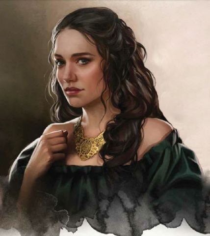 Jeyne Hightower. Queen. Step-Mother of Daena. Mother of 2 sons and 1 daughter: Aenys II, Viserys & Visenya (twins)