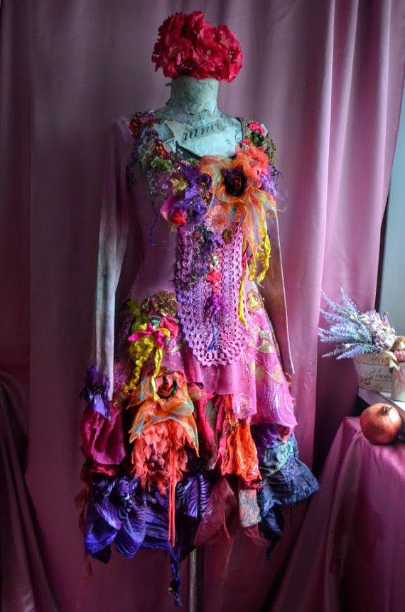 Alta moda bohemien romantico abito taglia di IrinaBohemianDance