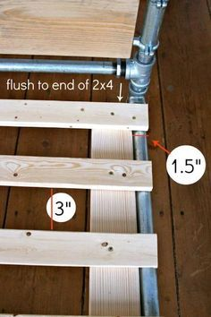 DIY Pipe Bed How to Step 12