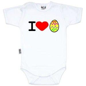 Body bébé original de Pâques : I love œuf