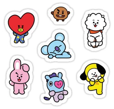 Sticker Pack BT21 Sticker in 2020 Cute stickers, Pop