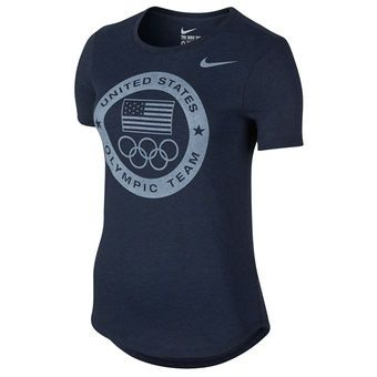 Nike Team USA Women's Navy 2016 Rio Olympics Dri-Blend Logo Performance T-Shirt #usa #olympics #teamusa