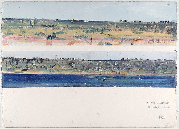 Ti-tree swamp, (1974) by Fred Williams :: The Collection :: Art Gallery NSW