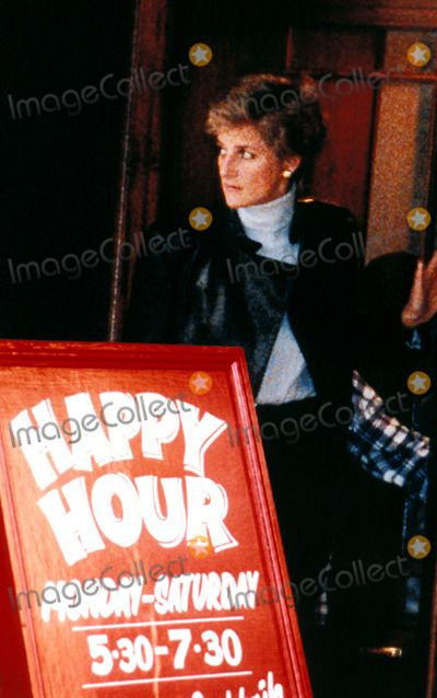 "Princess Diana ""Chicago Rib Shack"" Knightsbridge, London. Photo:/alpha/Globe Photos Inc 1995 Princessdianaretro 01/28/"