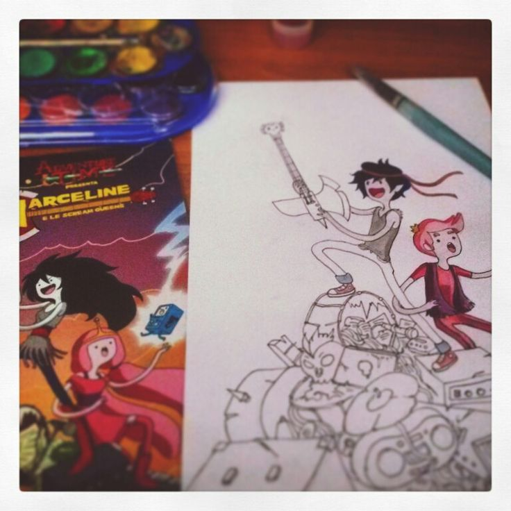 Marceline  and the Scream Queens  cover  redraw  (wip) by Sand Bongiorni on pinterest