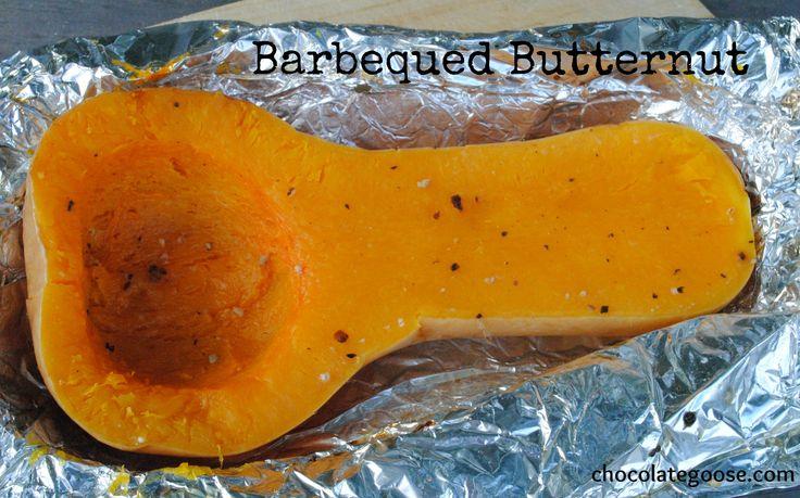 Braai baked butternut