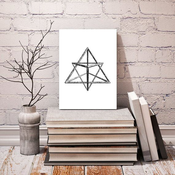 Sacred Geometry Merkabah  Star Tetrahedron  by NordicPrintStudio