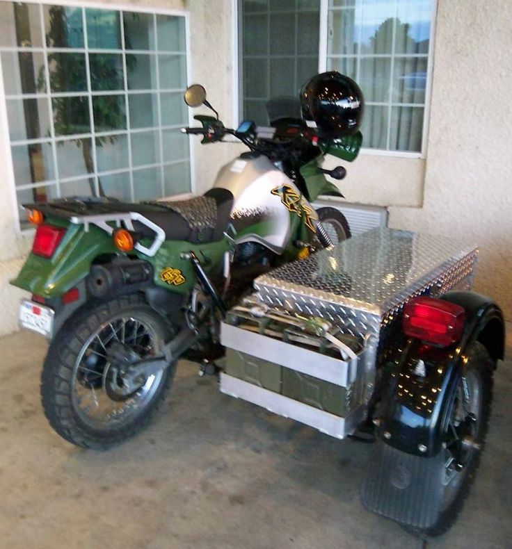 KLR 650 With Storage Sidecar