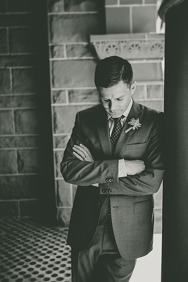 groom, so lovely. try to do this