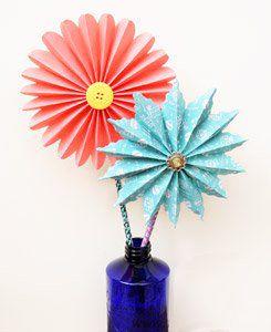 Floare acordeon #activitaticopii #lucrumanual Craft for kids paper flowers
